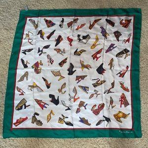 Salvatore Ferraragamo shoe silk scarf